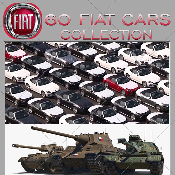 "60"" Fiat Cars Collection Pack"