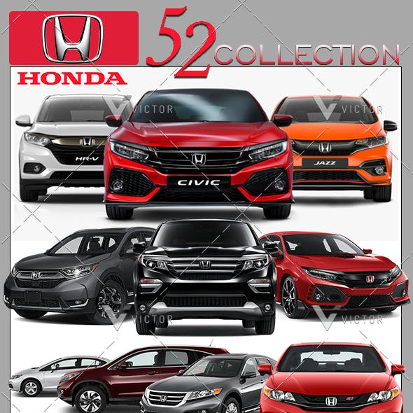 """52"""" Honda Cars Collection Pack"""