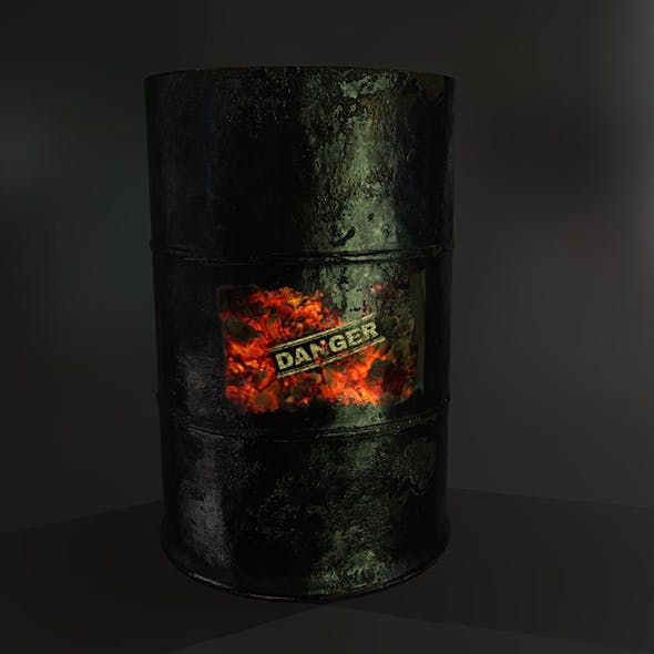 Fuel Barrel PBR Model
