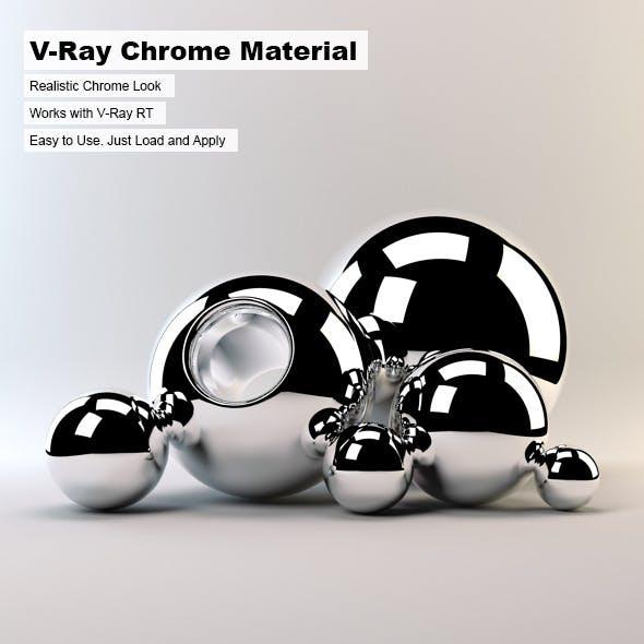 V-Ray Chrome Material - 3DOcean Item for Sale