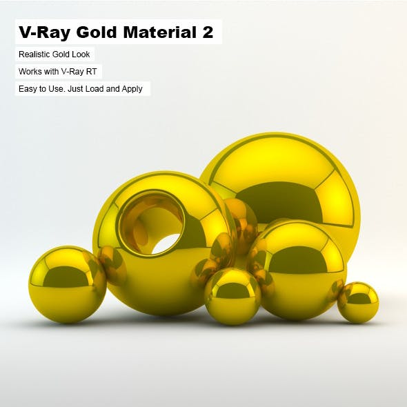 V-Ray Gold Material 2