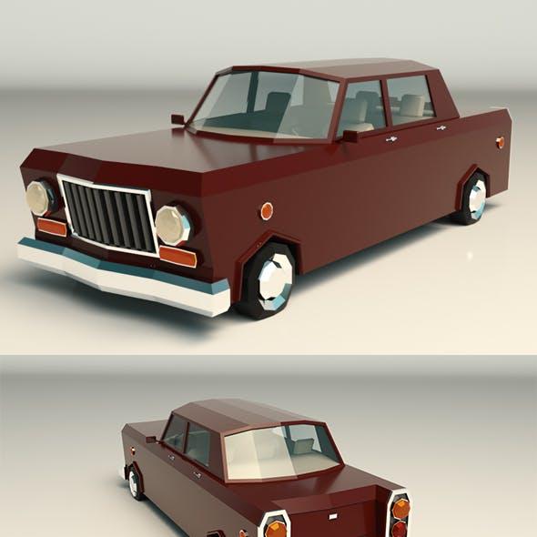 Low Poly Sedan Car 08