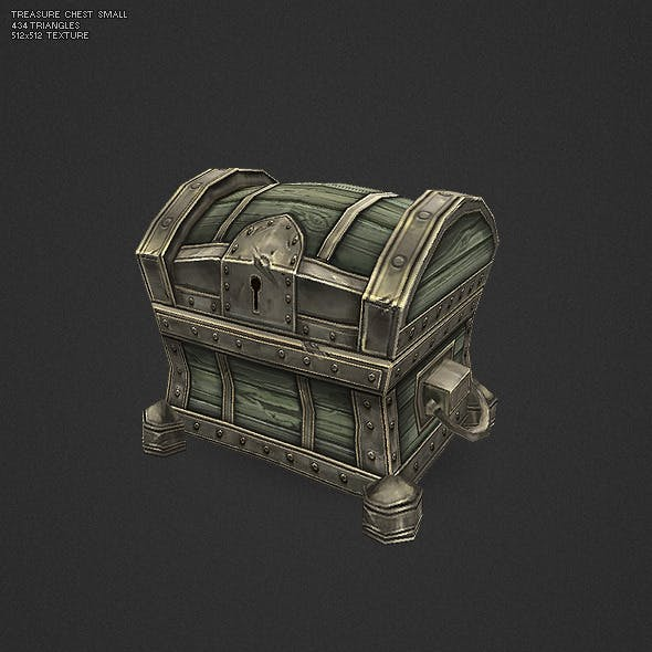 Low Poly Treasure Chest - Small