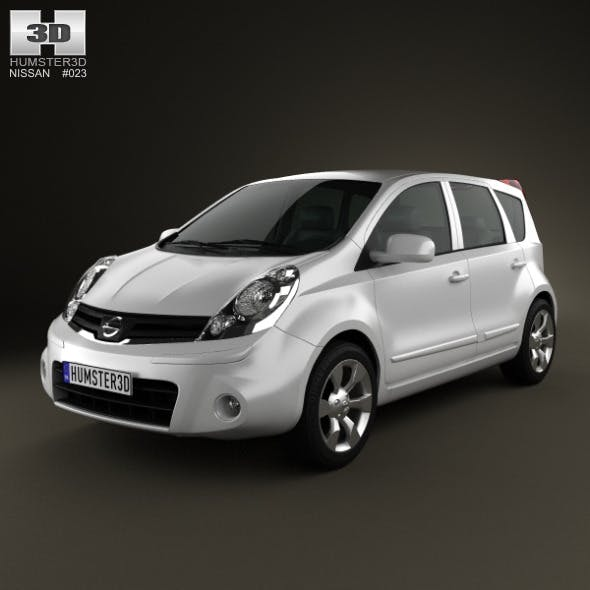 Nissan Note 2009 - 3DOcean Item for Sale