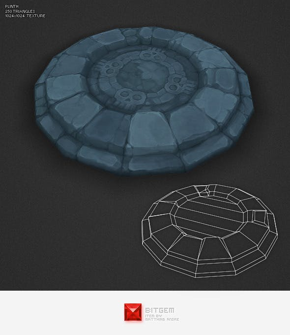 Low Poly Dungeon Plinth - 3DOcean Item for Sale