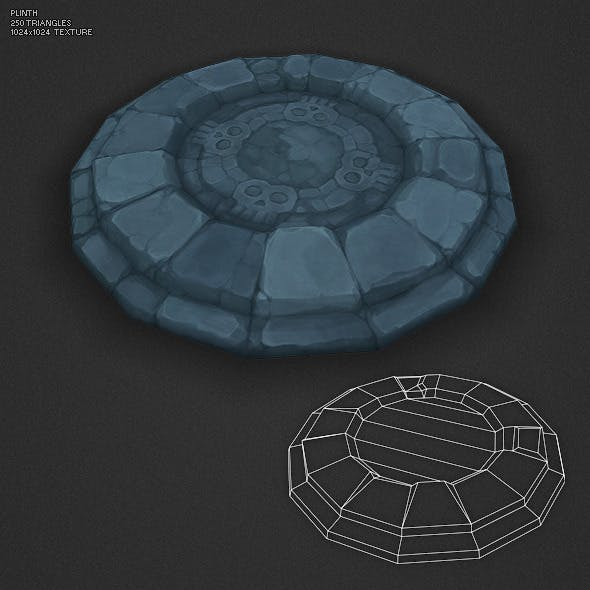 Low Poly Dungeon Plinth