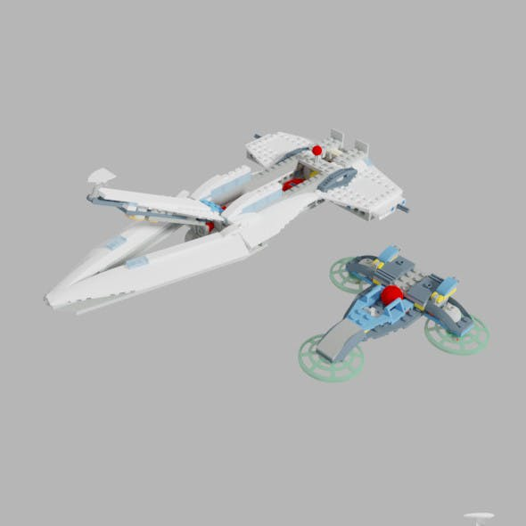 Cyborg Spaceship Vehicle