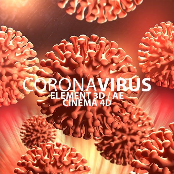 Corona Virus for Element 3D & Cinema 4D