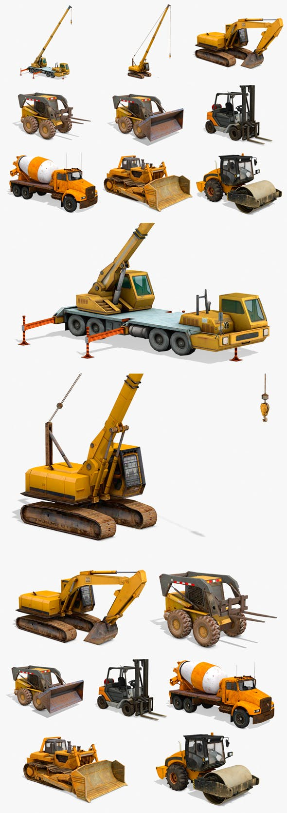 Construction Vehicles Pack - 3DOcean Item for Sale