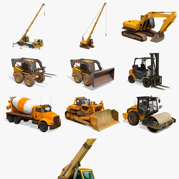 Construction Vehicles Pack