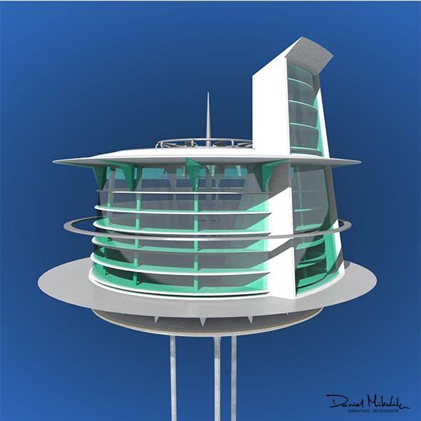 Futuristic Architecture Skyscraper #03