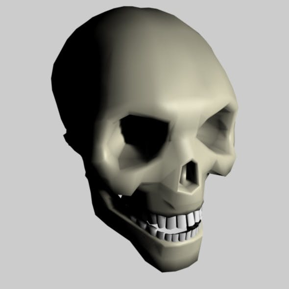 3D Low Poly Skull For Cinema 4D (incl. .obj & fbx)