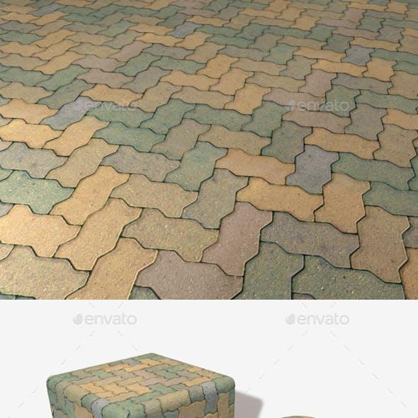 Green Floor Bricks Seamless Texture