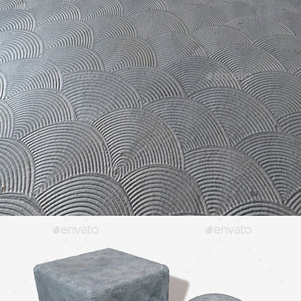 Patterned Concrete Swirls Seamless Texture