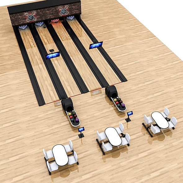 Bowling Alley 3D Model