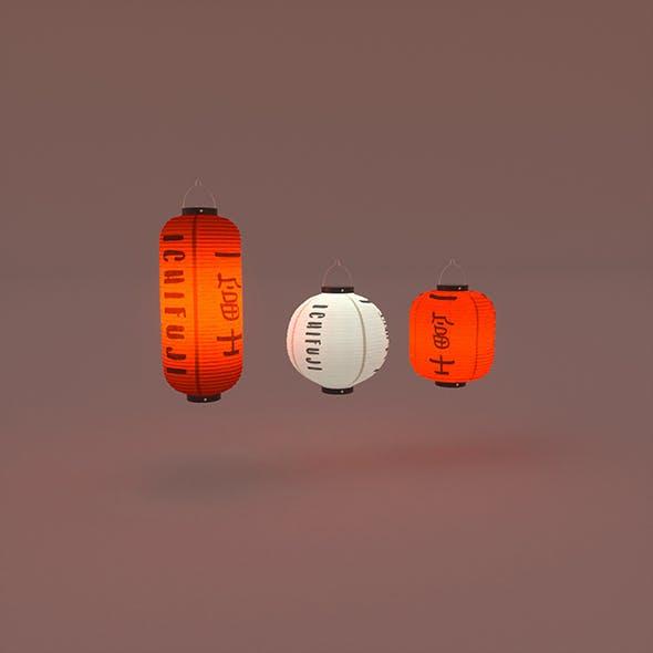 Japanese Lanterns - 3DOcean Item for Sale