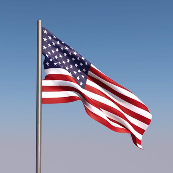Animated 3D Flag