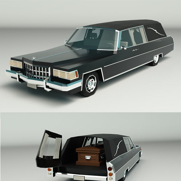 Low Poly Hearse Car