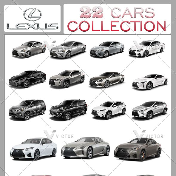 "22"" Lexus Cars Collection Pack"
