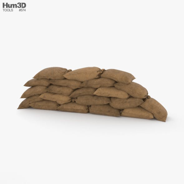 Sandbags Barricade - 3DOcean Item for Sale