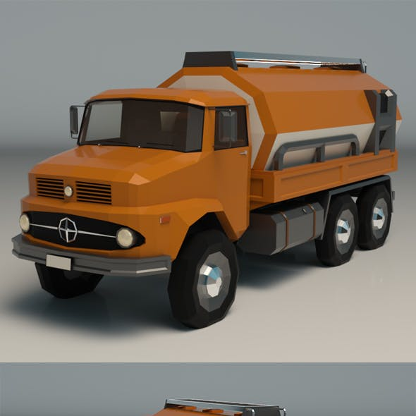 Low Poly Vintage Truck 03