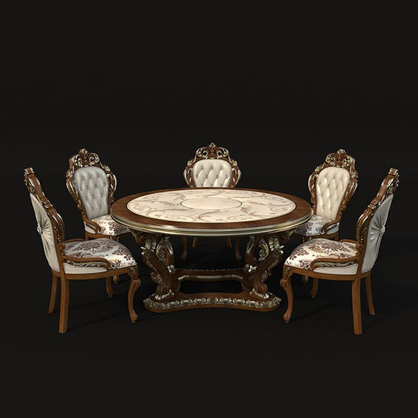 Classic Dinning Table Chair Set