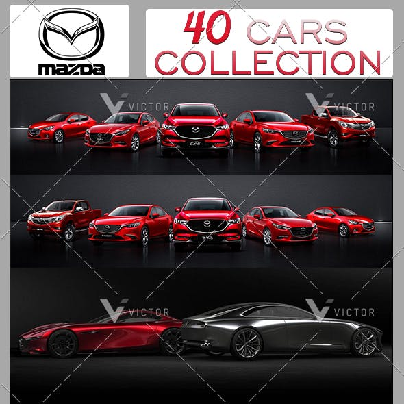 """40"""" Mazda Cars Collection Pack"""