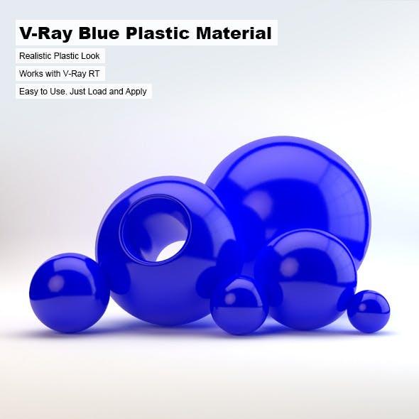 V-Ray Blue Plastic Material