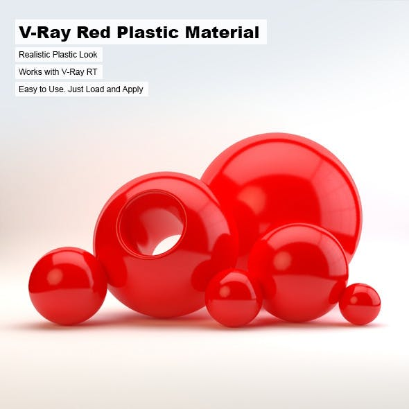 V-Ray Red Plastic Material