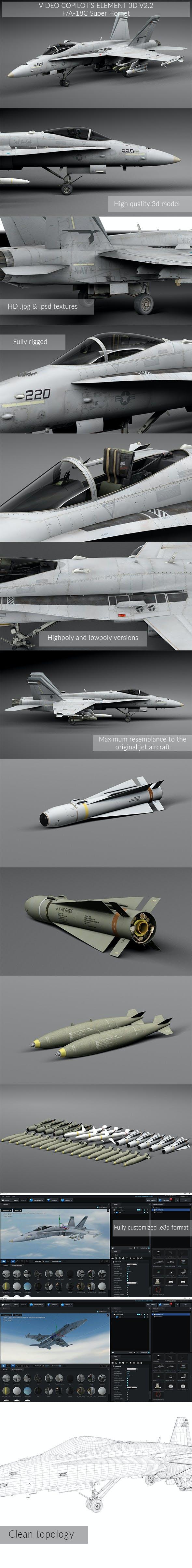 F/A - 18C Super Hoornet - 3DOcean Item for Sale