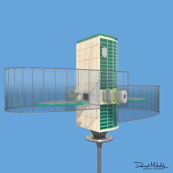 Futuristic Architecture Skyscraper #06