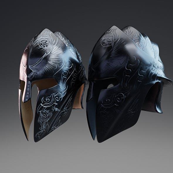 Elite Guardian Helmet PBR Low Poly