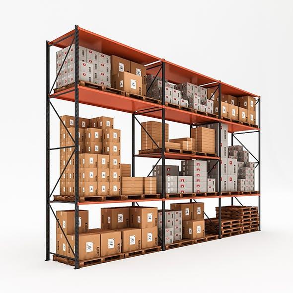 3D Warehouse Rack Model - 3DOcean Item for Sale
