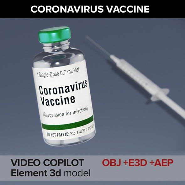 Coronavirus Vaccine and Syringe