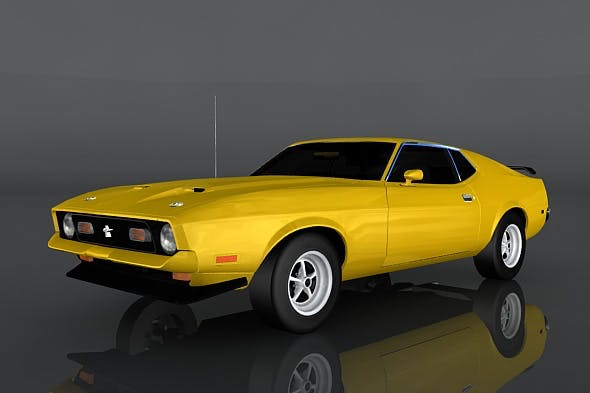 1971 Ford Mustang - 3DOcean Item for Sale