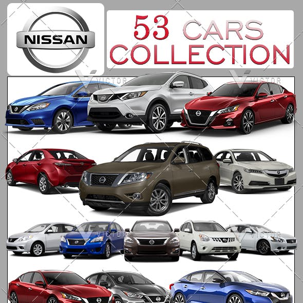 """53"""" Nissan Car Models Collection Pack"""