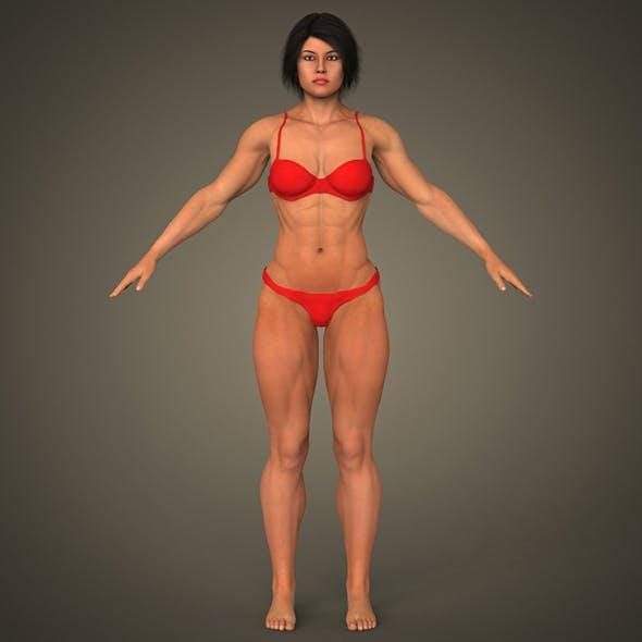 Realistic Bodybuilder Woman