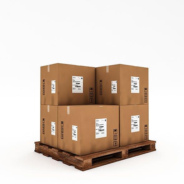 3D Warehouse Box Model