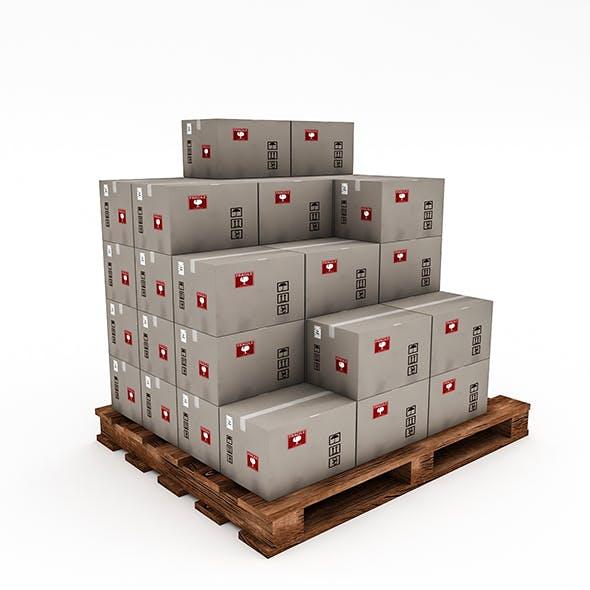 3D Warehouse Box Model 2