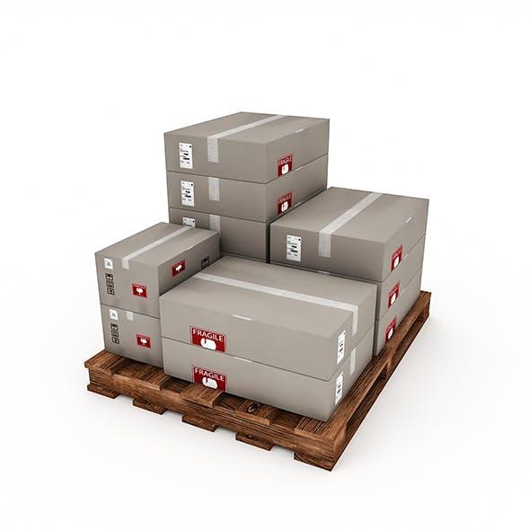 3D Warehouse Box Model 3
