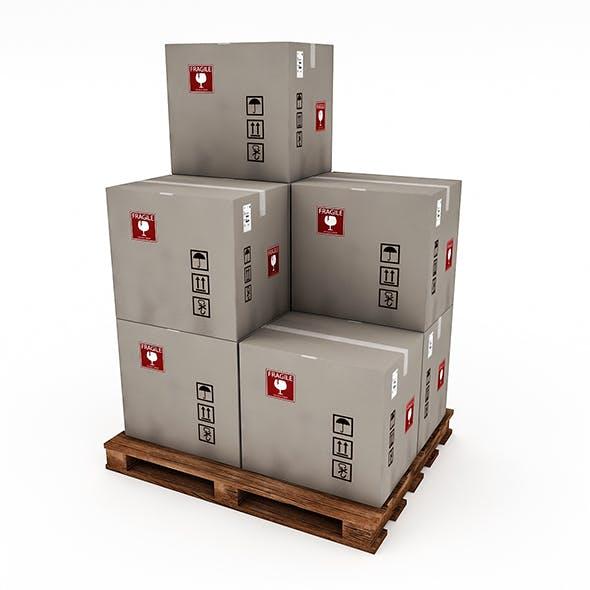 3D Warehouse Box Model 4