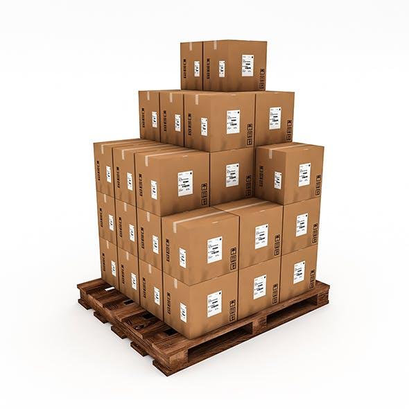 3D Warehouse Box Model 6