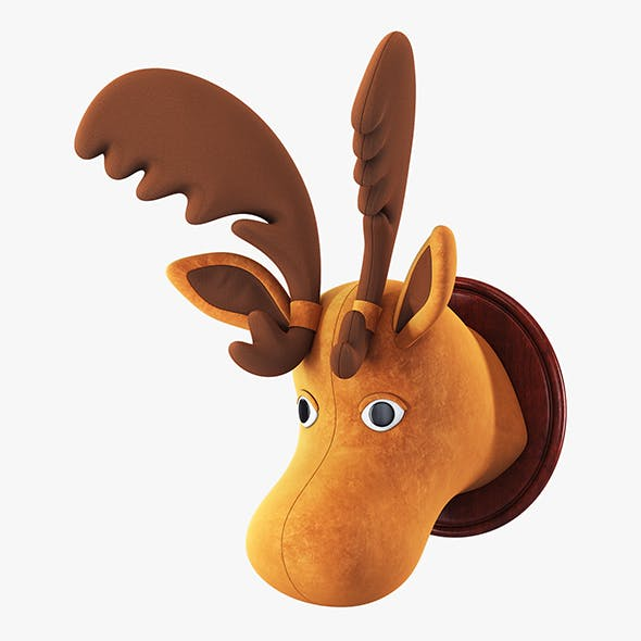 Fabric Moose Head Trophy
