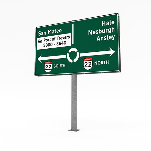3D Traffic Sign Model 01