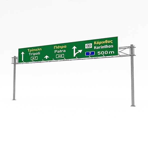 3D Traffic Sign Model 04