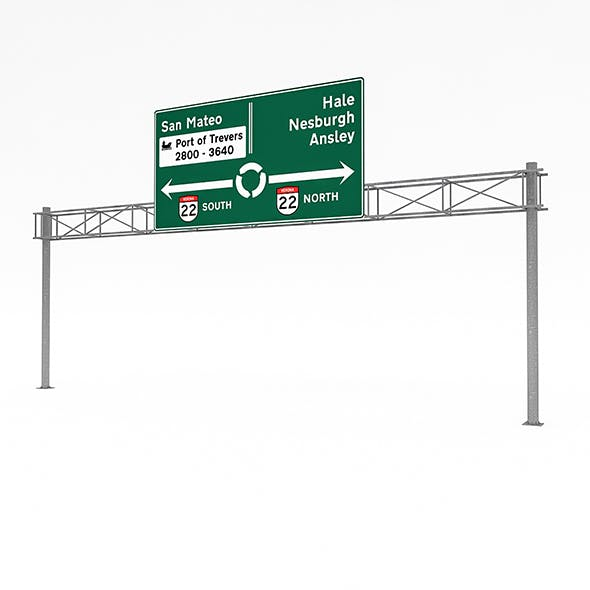 3D Traffic Sign Model 05