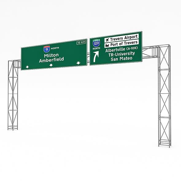 3D Traffic Sign Model 06