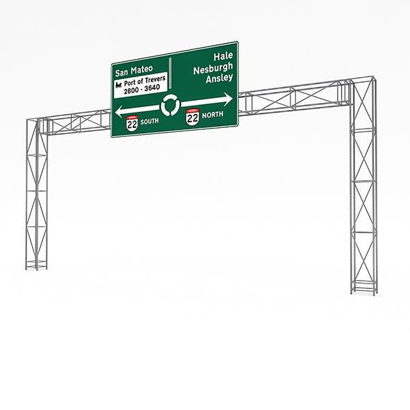 3D Traffic Sign Model 07
