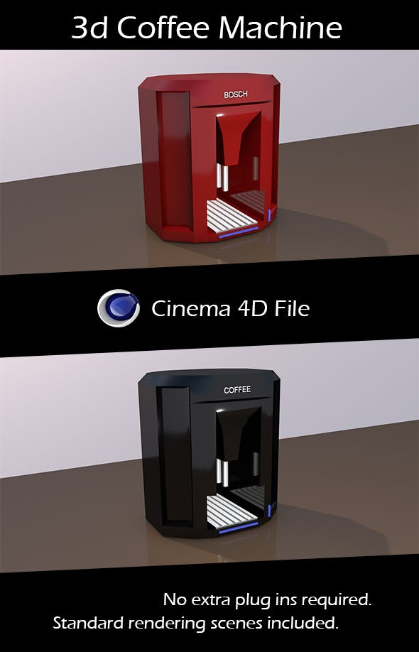 3d Coffee Machine. - 3DOcean Item for Sale