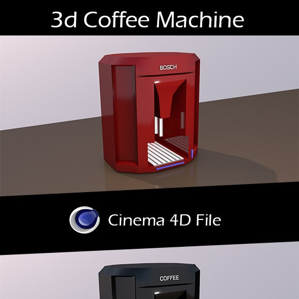 3d Coffee Machine.